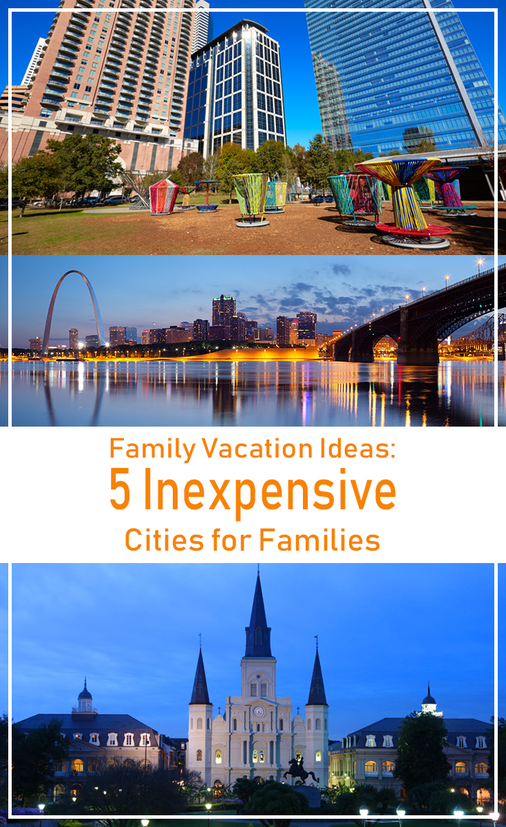 These family vacation ideas keep your family busy and keep your budget small. Check out these five inexpensive cities in the USA to visit.